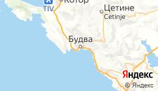Отели города Будва на карте