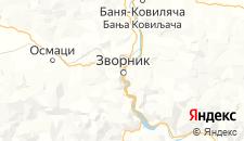 Гостиницы города Зворник на карте
