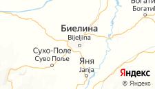 Гостиницы города Биелина на карте