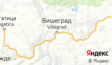 Гостиницы города Вишеград на карте