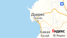 Отели города Дуррес на карте