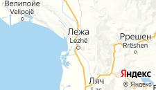 Отели города Лежа на карте