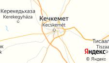 Отели города Кечкемет на карте