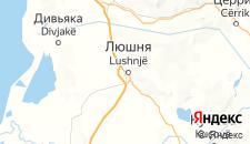 Отели города Люшня на карте