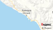 Отели города Химара на карте