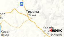 Отели города Тирана на карте