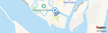 Музей Балтийского флота на карте Балтийска