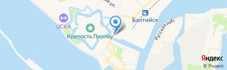 Отдел полиции по Балтийскому городскому округу на карте Балтийска