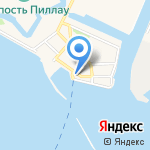 Служба управления за движением судов по Калининградскому каналу на карте Балтийска