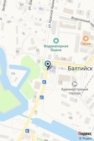 ОВД Г.БАЛТИЙСКА на карте Балтийска