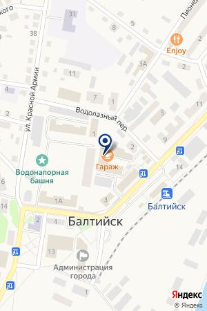 ЛАЗУРНОЕ ОТДЕЛЕНИЕ ЦЕНТРАЛЬНЫЙ БАНК РОССИИ на карте Балтийска