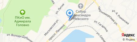 Магазин кондитерских изделий на проспекте Ленина на карте Балтийска