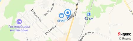 Банкомат Сбербанк России на карте Балтийска