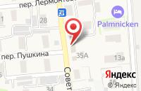Схема проезда до компании Милосердие в Янтарном
