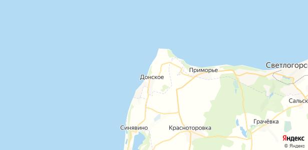 Донское на карте