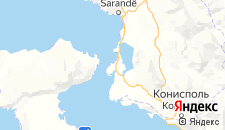 Отели города Ксамил на карте