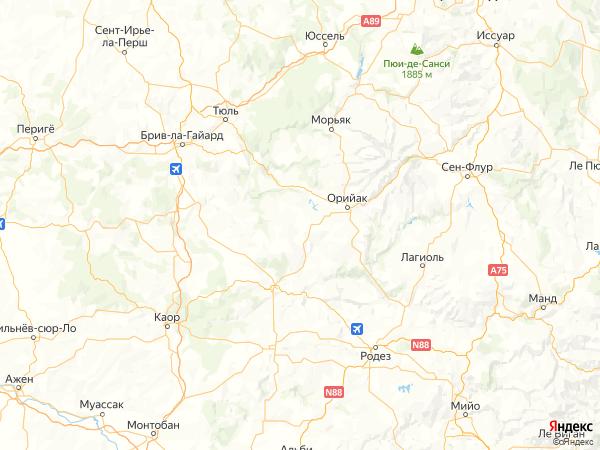 Парлан на карте