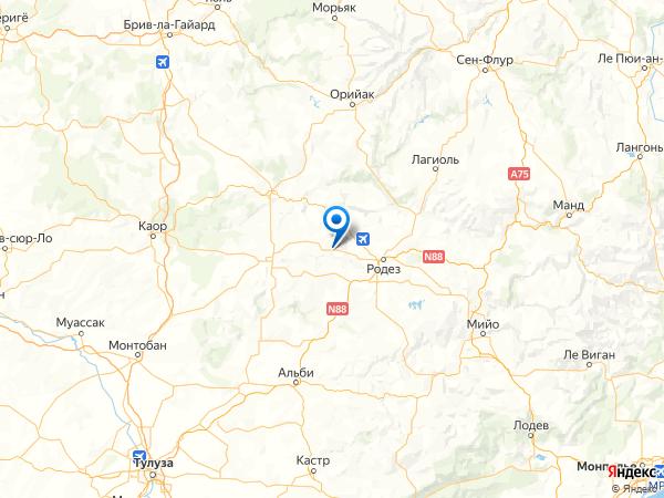 Белькастель на карте