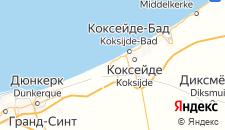 Отели города Де Панне на карте