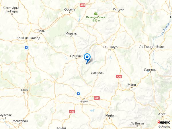 Тоссак на карте