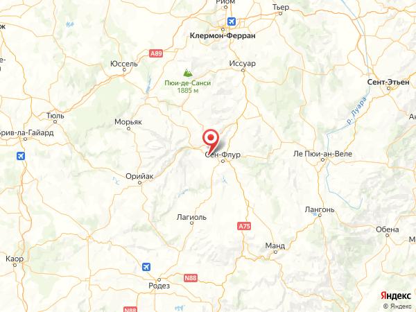 Юссель на карте