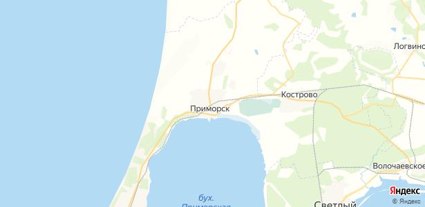 Приморск на карте