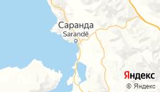 Отели города Саранда на карте