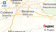 Отели города Величка на карте