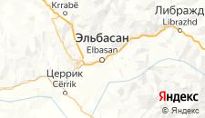 Отели города Эльбасан на карте