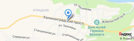 Продуктовый магазин на карте Светлогорска