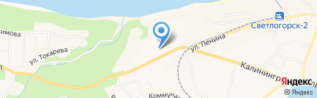 Морской бриз на карте Светлогорска