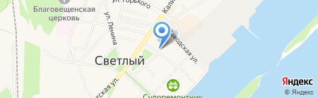 Магазин товаров для детей на ул. Тельмана на карте Светлого