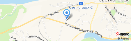 Сбербанк России на карте Светлогорска