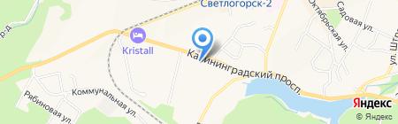 Управление Пенсионного фонда РФ в Светлогорском районе Калининградской области на карте Светлогорска