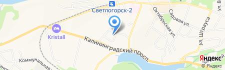 Балтинтерстрой на карте Светлогорска