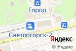 Схема проезда до компании Паровоз в Светлогорске