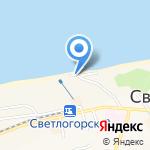 Киоск фастфудной продукции на карте Светлогорска