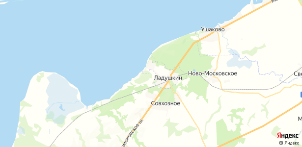 Ладушкин на карте