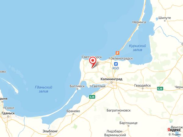 поселок Листопадовка на карте