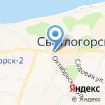 Светлогорский военный санаторий на карте Светлогорска