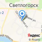 Магазин женского белья на карте Светлогорска