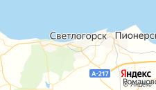 Гостиницы города Светлогорск на карте