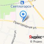 Мастерская по ремонту одежды на Пригородной на карте Светлогорска