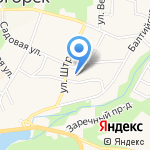 Храм преподобного Серафима Саровского на карте Светлогорска