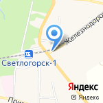 Светлогорск-АВТО на карте Светлогорска