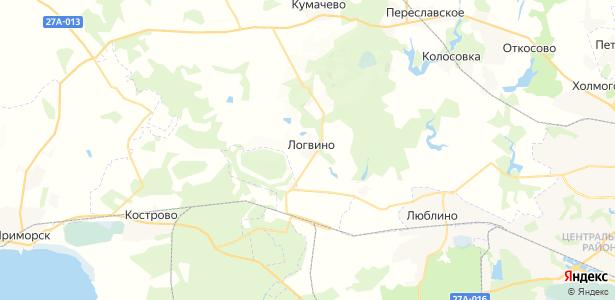 Логвино на карте