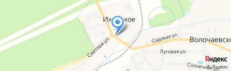 Продуктовый магазин на Балтийской на карте Ижевского