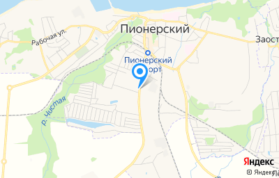 Местоположение на карте пункта техосмотра по адресу Калининградская обл, г Пионерский, ш Калининградское