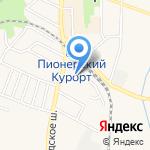 Пионерск-проект на карте Пионерского