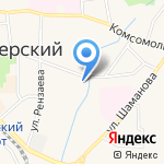 Продуктовый магазин на карте Пионерского